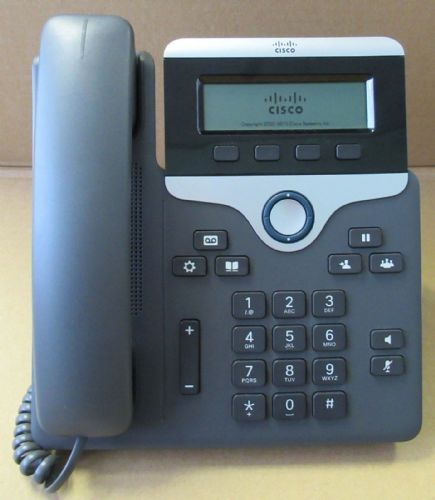 Cisco CP-7811-K9 CP-7811 Unified IP VOIP Greyscale Telephone Phone 7800 Series